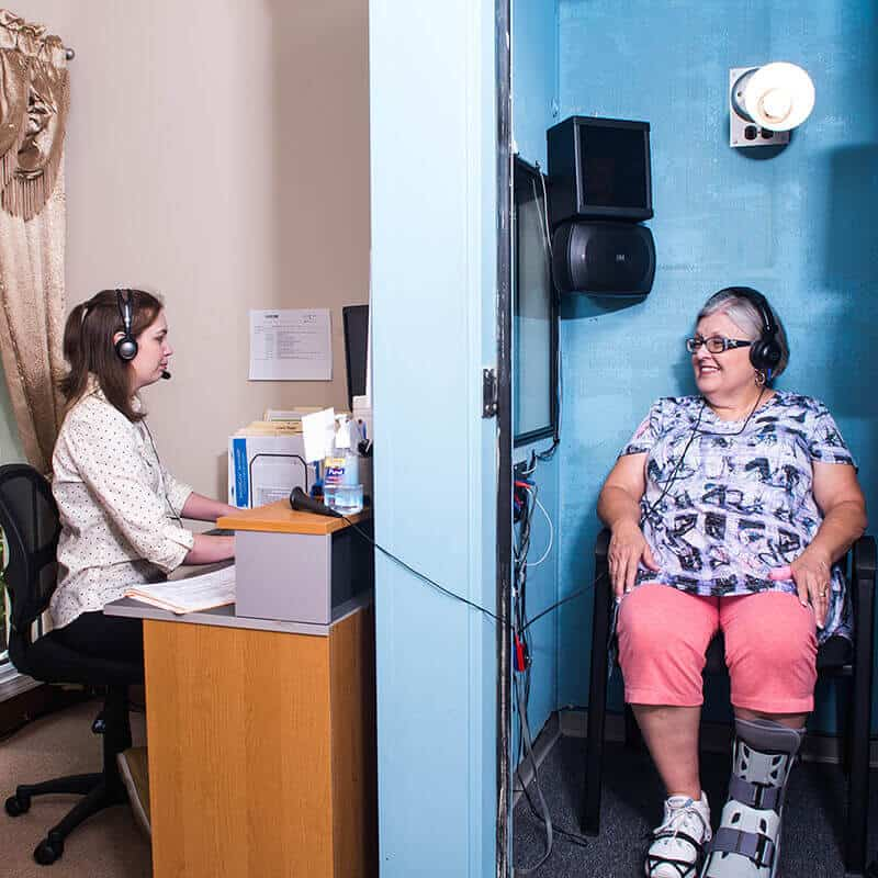 patient undergoing diagnostic tests